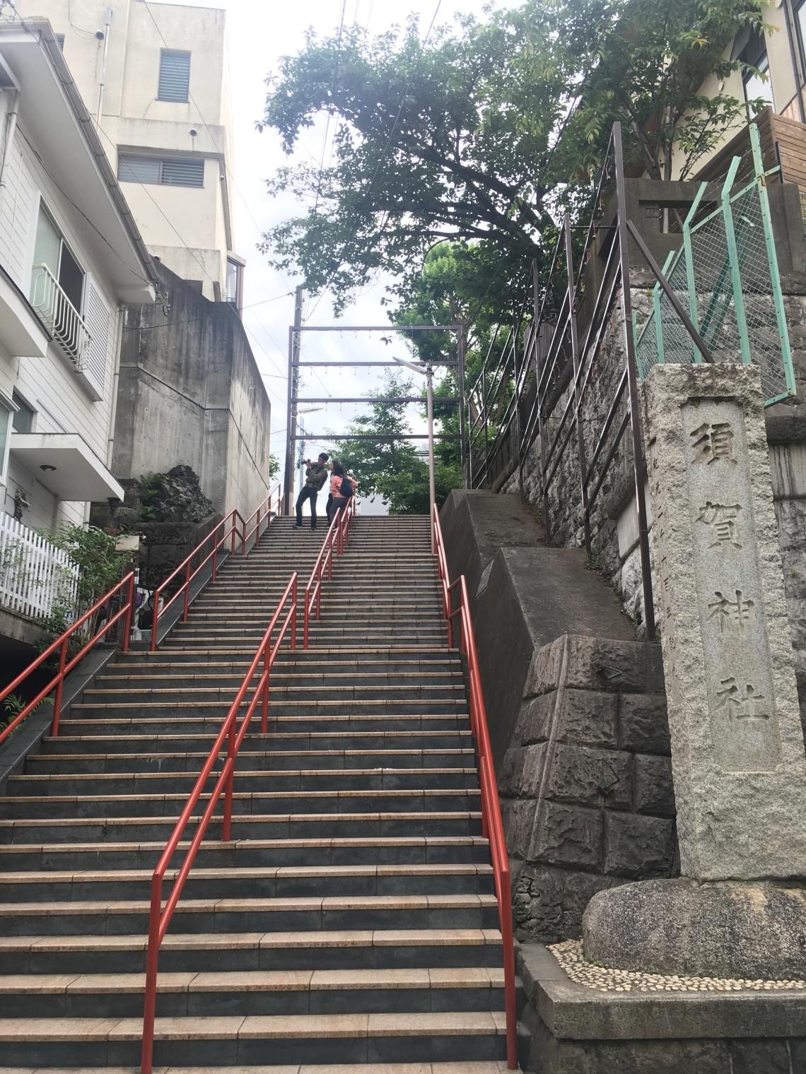 Yotsuya kimi no nawa stairs Tokyo Japan 1