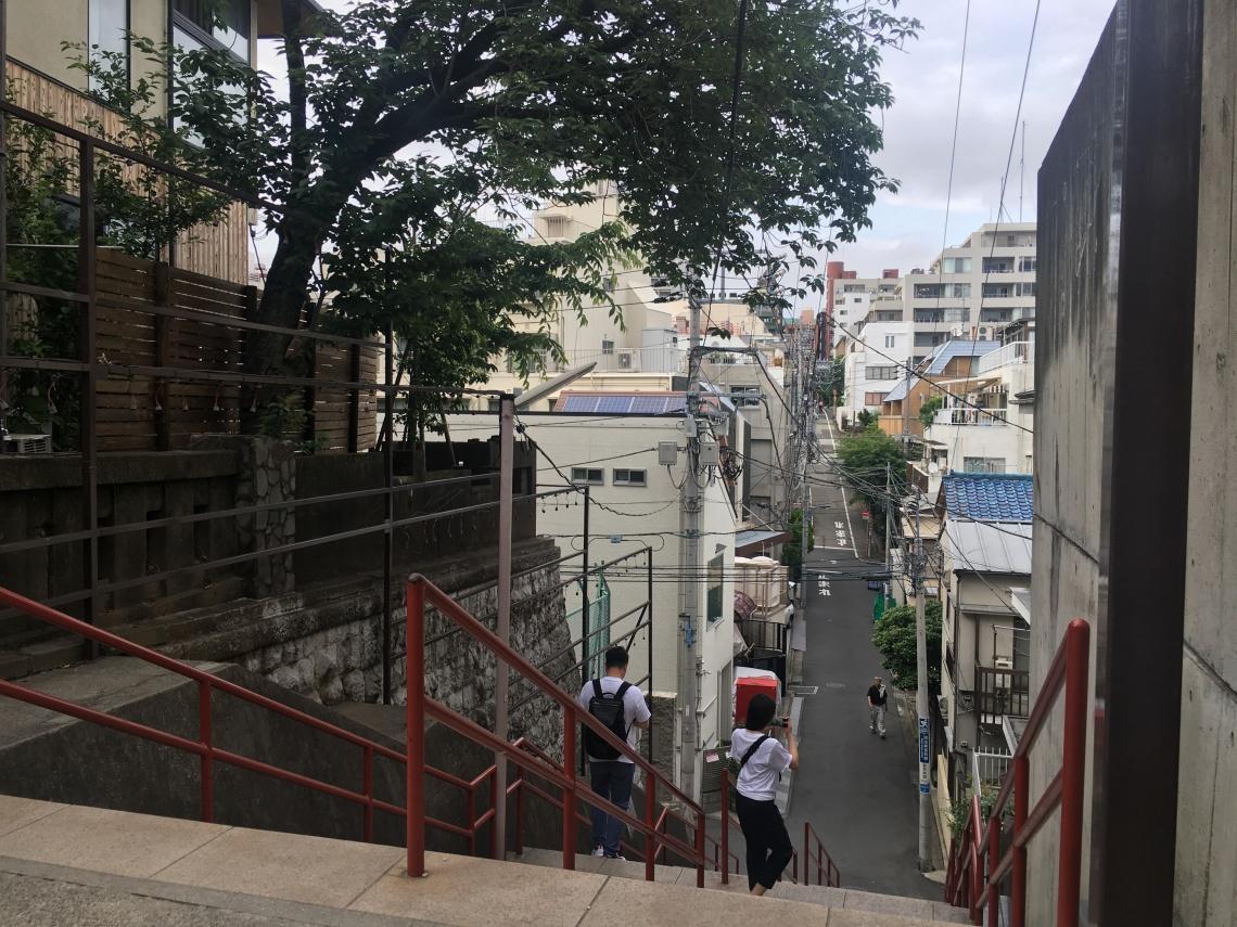 Yotsuya kimi no nawa stairs Tokyo Japan 2