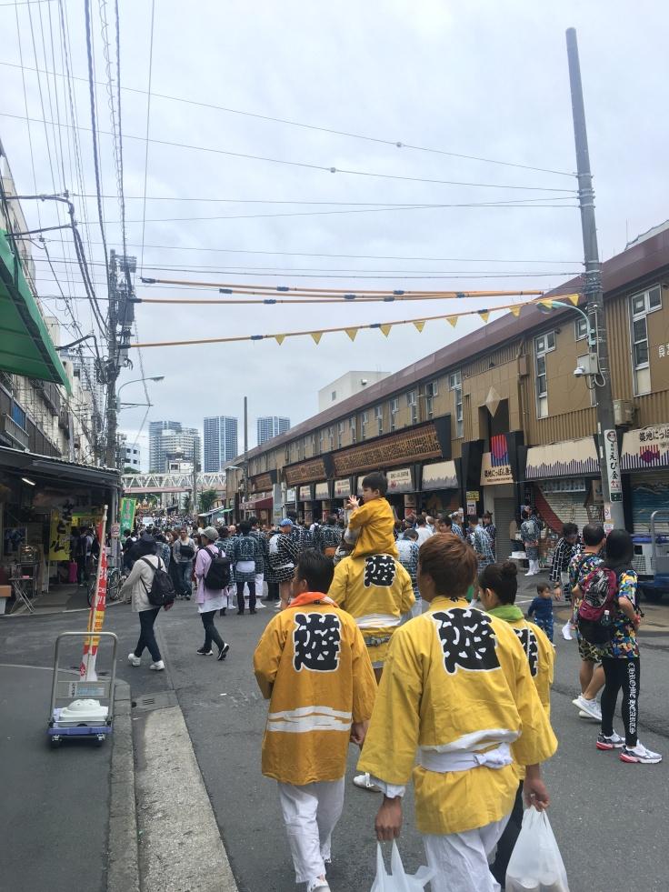 Lion Festival at Tsukiji Fish Market Tokyo Japan