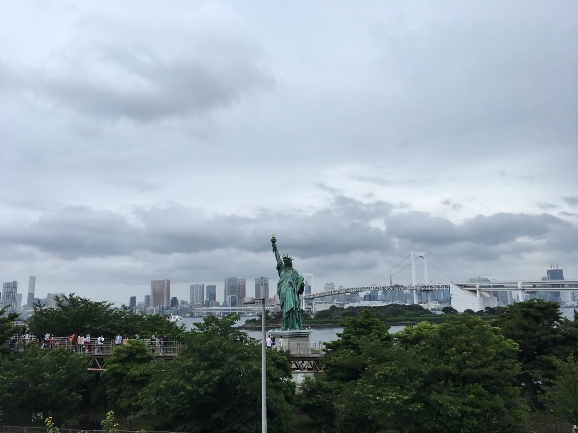 Odaiba statue of Liberty Japan