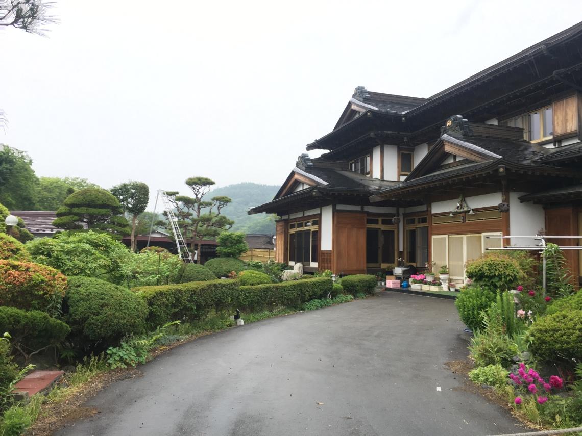 Small town at Mount Fuji Japan 6