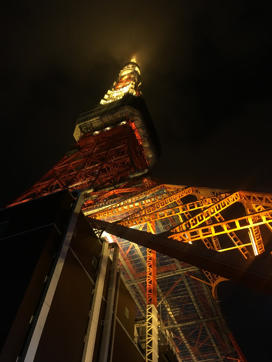 Rear view of Tokyo Tower Japan