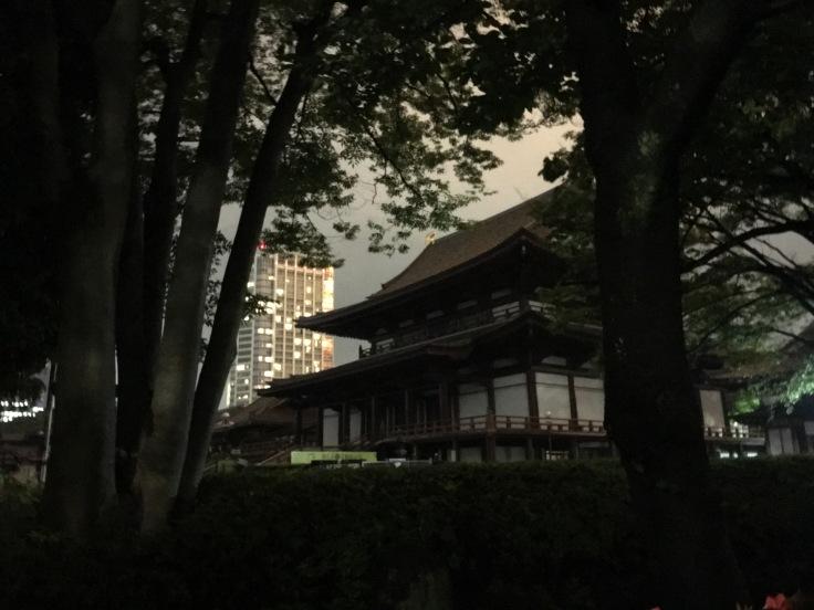 a random temple near Tokyo Tower Japan